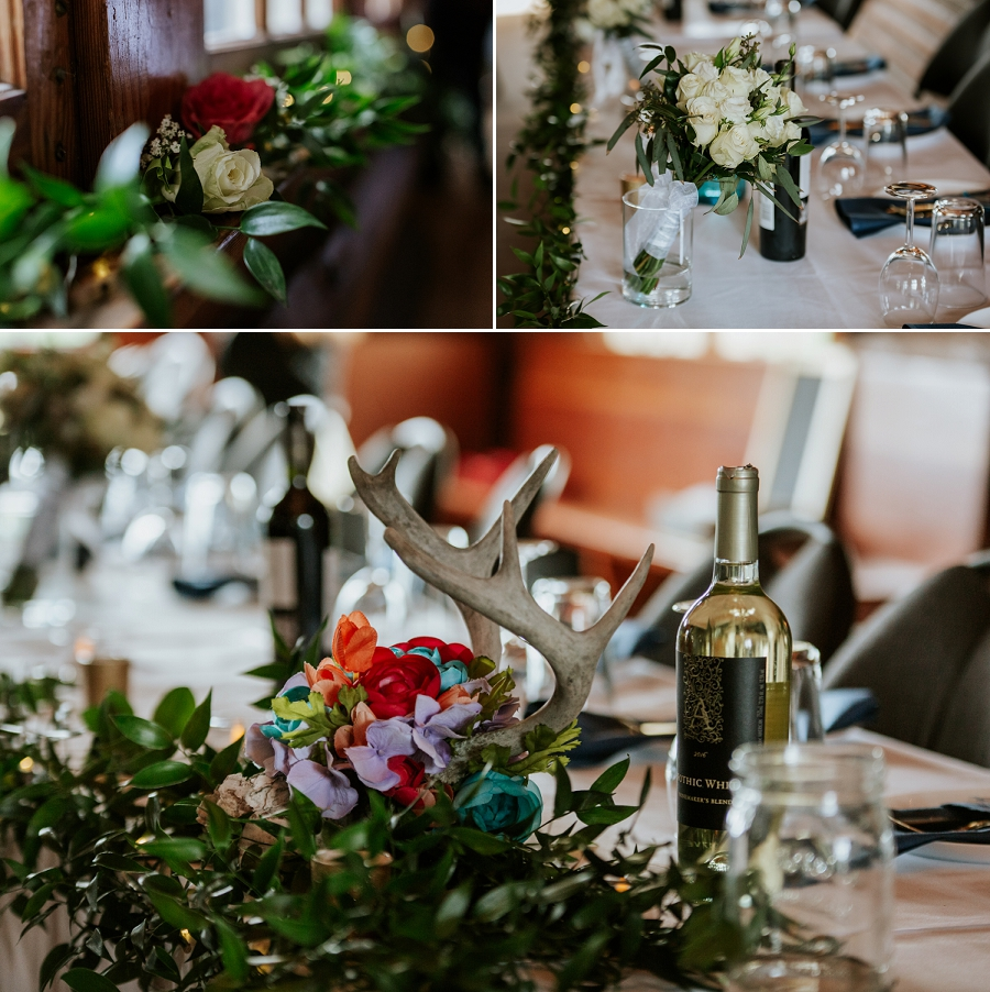 antler wedding decor