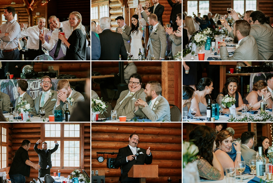 wedding reception in waskesiu