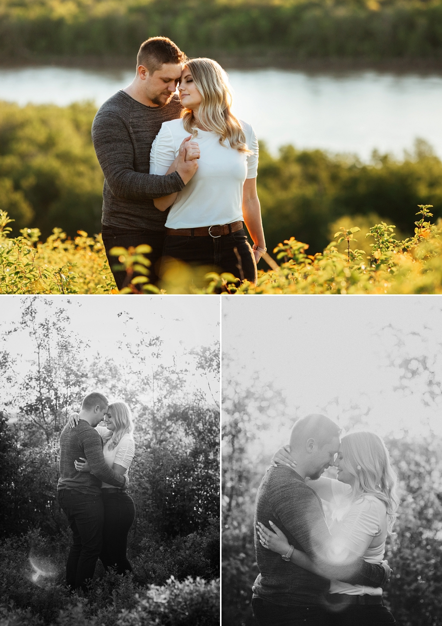 adventurous engagement session near saskatoon