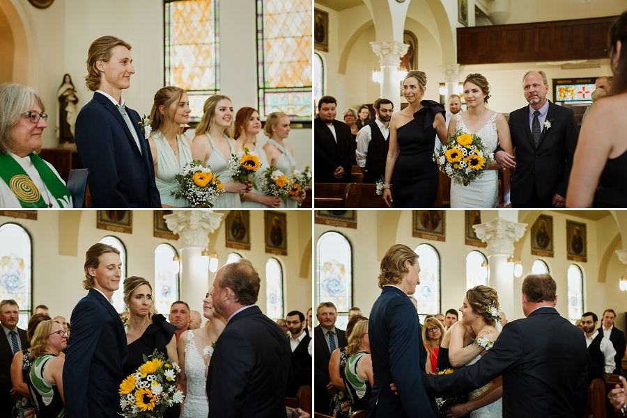 wedding at marysburg assumption church