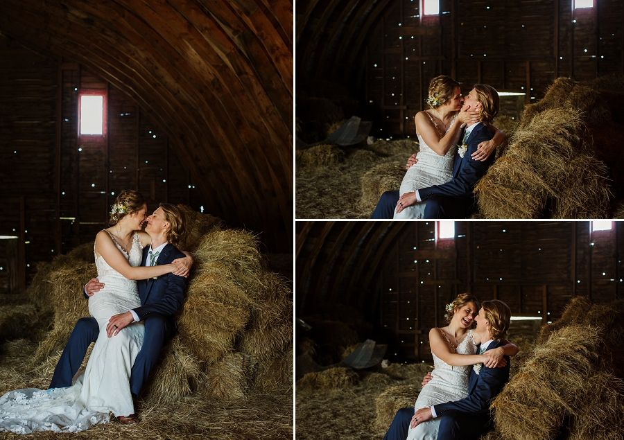 barn wedding photos for bride and groom