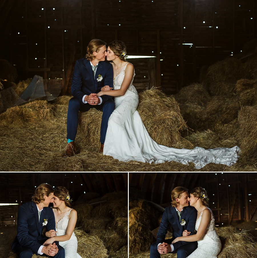 rural saskatchewan barn wedding photography