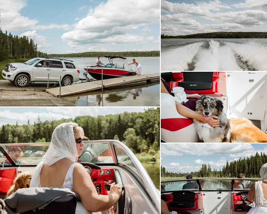 crean lake wedding in prince albert national park