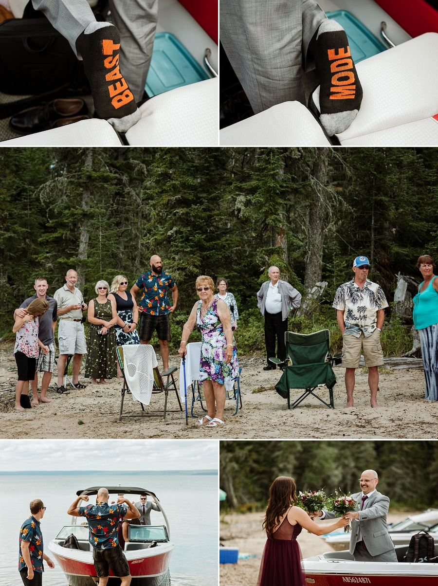 saskatchewan destination wedding in waskesiu