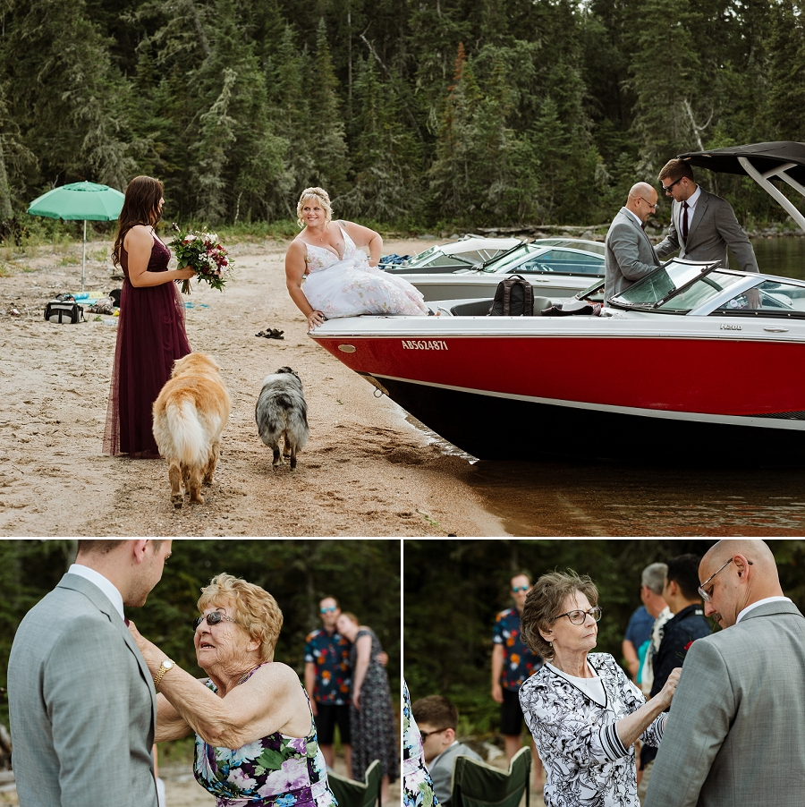 beach wedding at crean lake