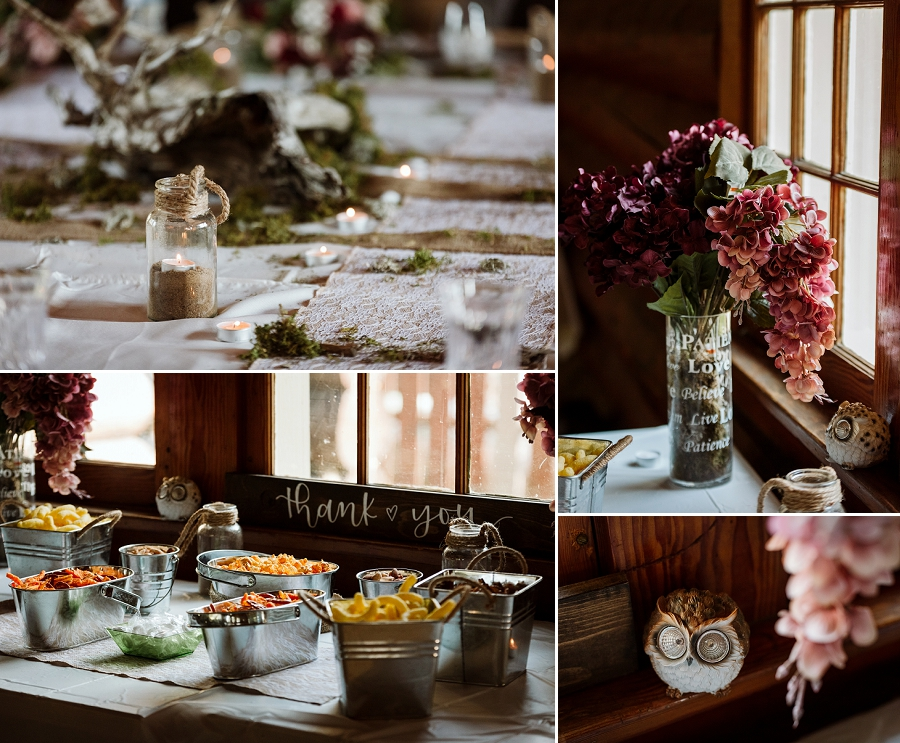 waskesiu community hall wedding decor