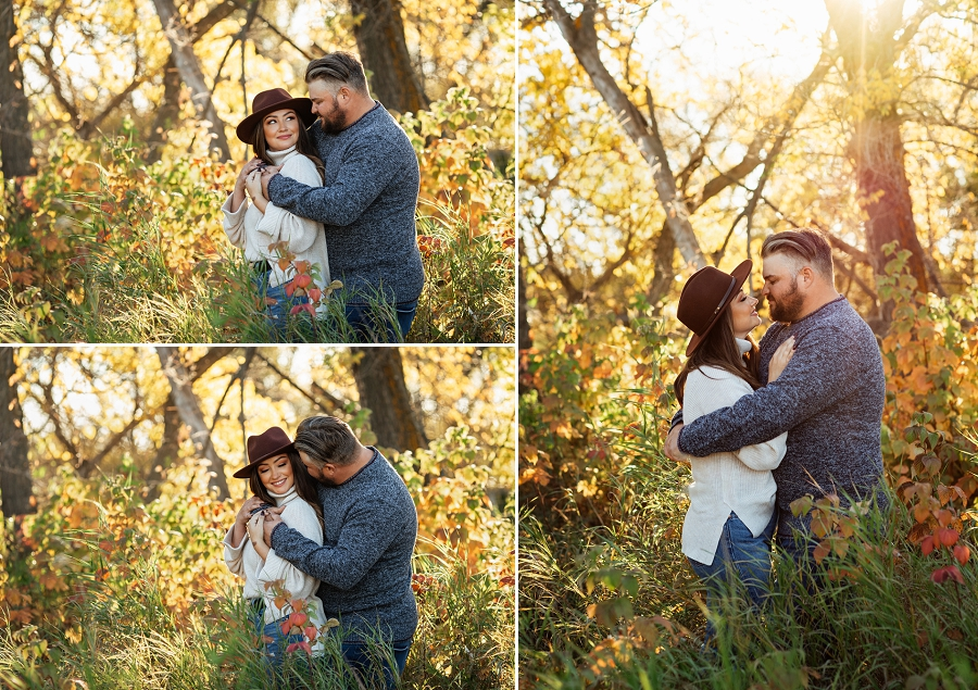 fall engagement photos in prince albert