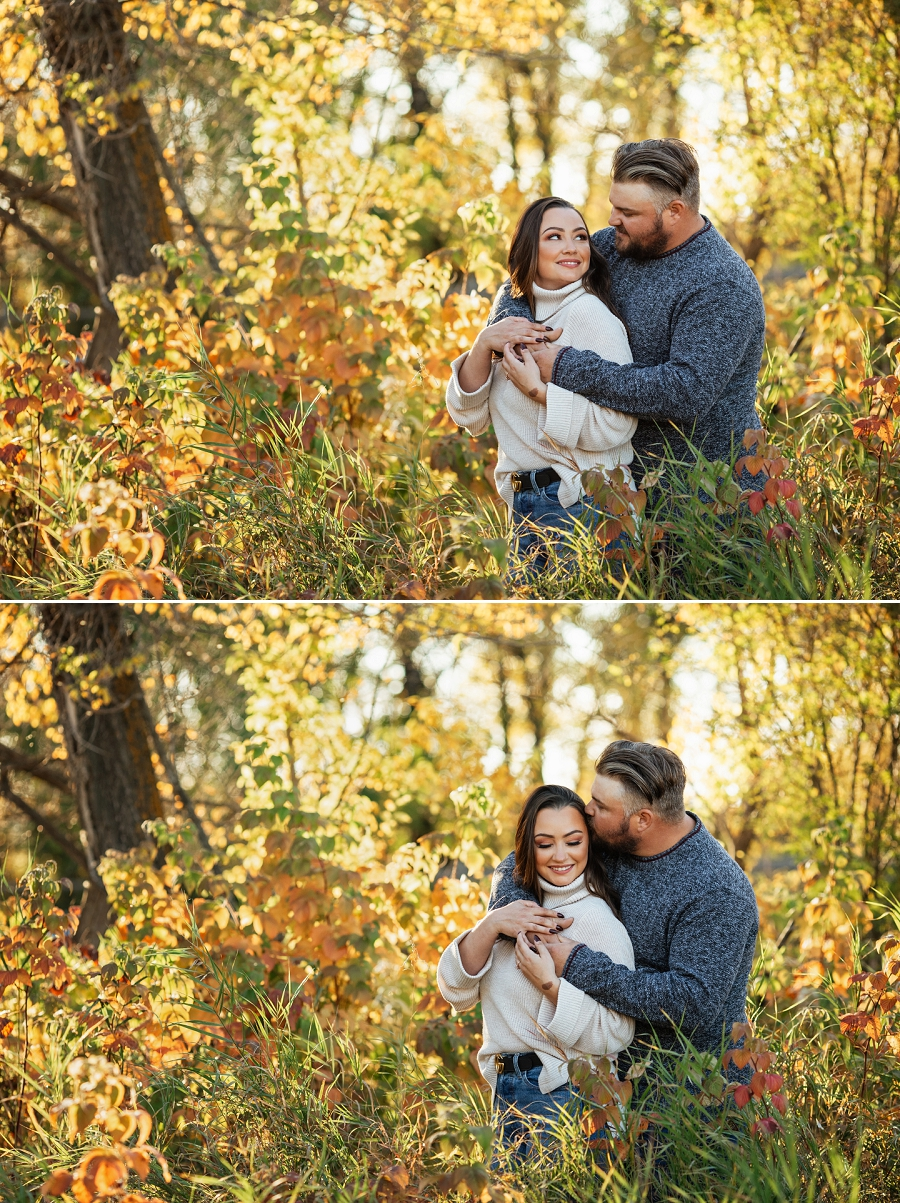 autumn engagement pictures in prince albert