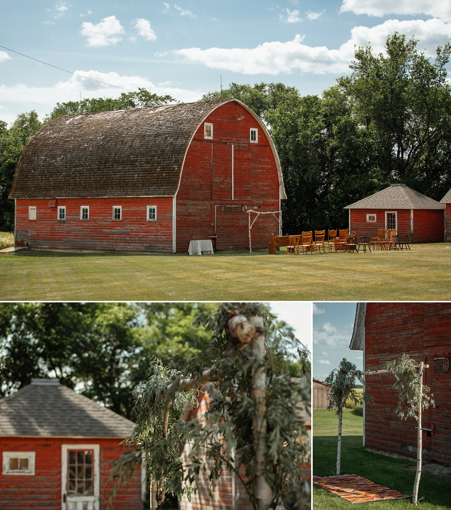 farm wedding on the family homestead