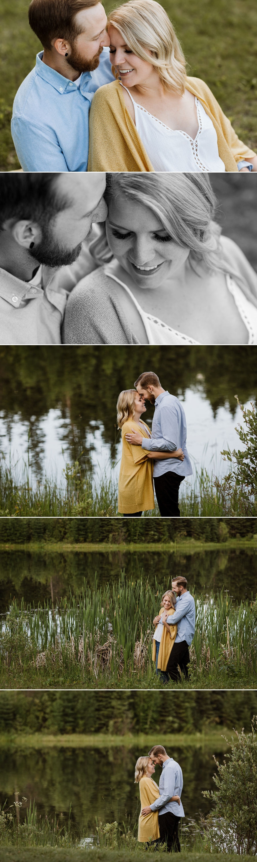 candle lake trout pond engagement session