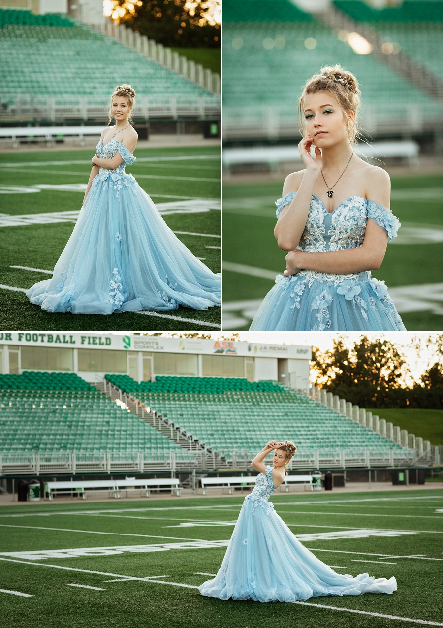 grad photos for female football players