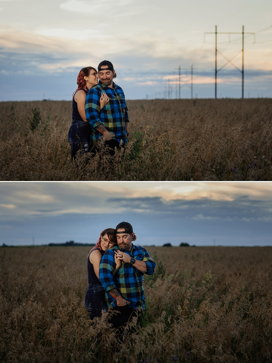 rural engagement photos in saskatchewan