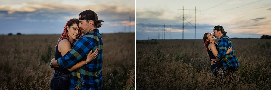 country engagement pictures in saskatchewan