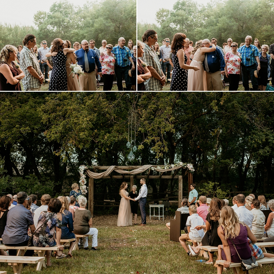 outdoor wedding ceremony in saskatoon