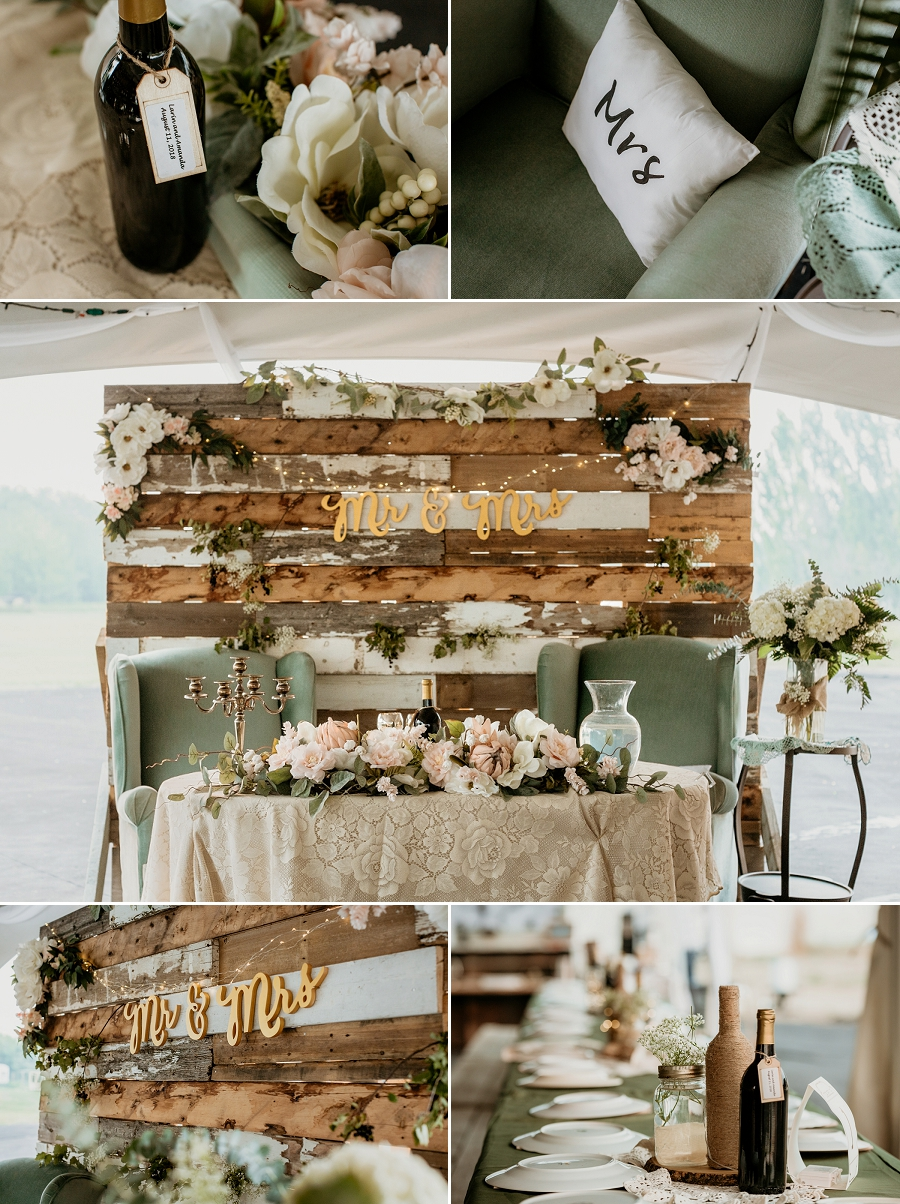diy head table backdrop