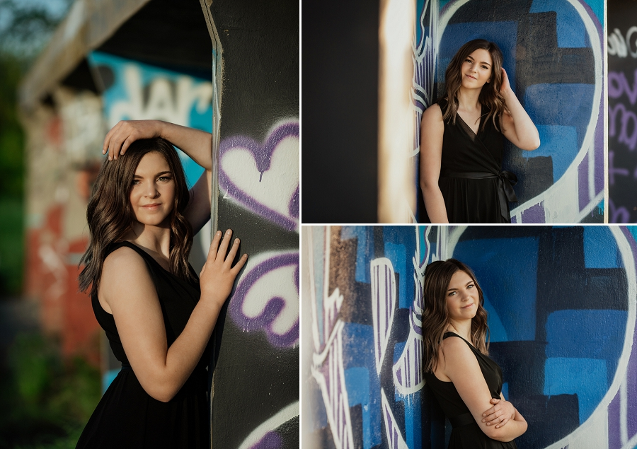 senior photos in saskatoon with graffiti