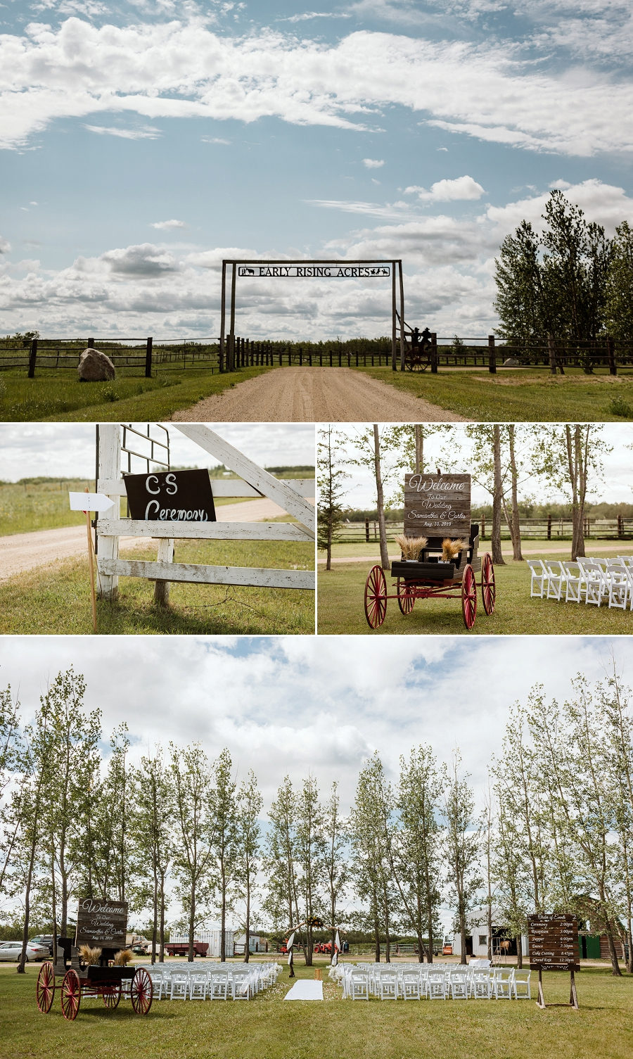 wedding at early rising acres in martensville saskatchewan