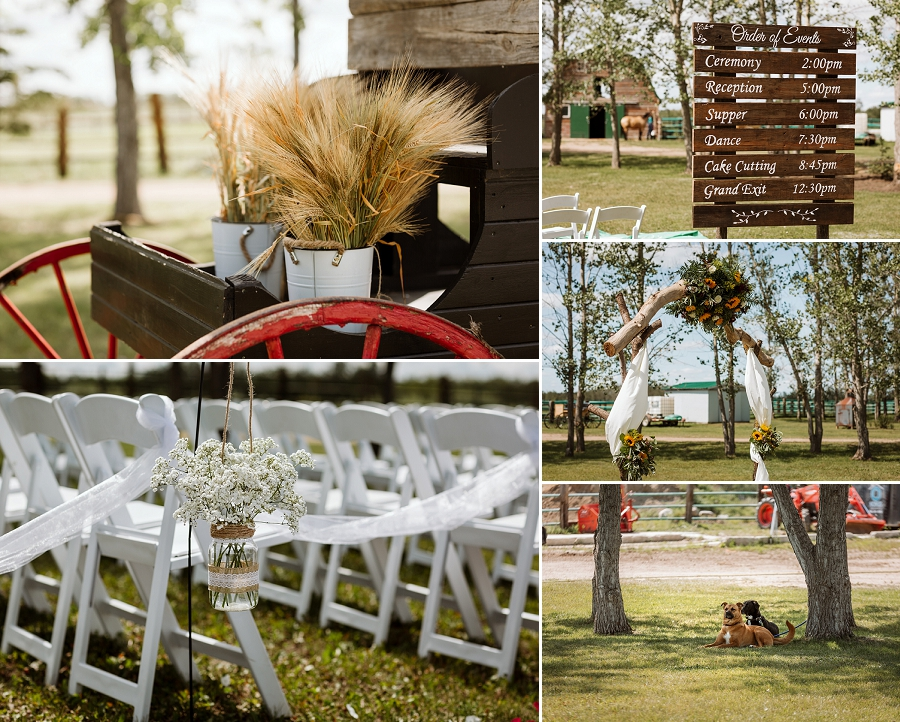rustic wedding decorations for an outdoor ceremony
