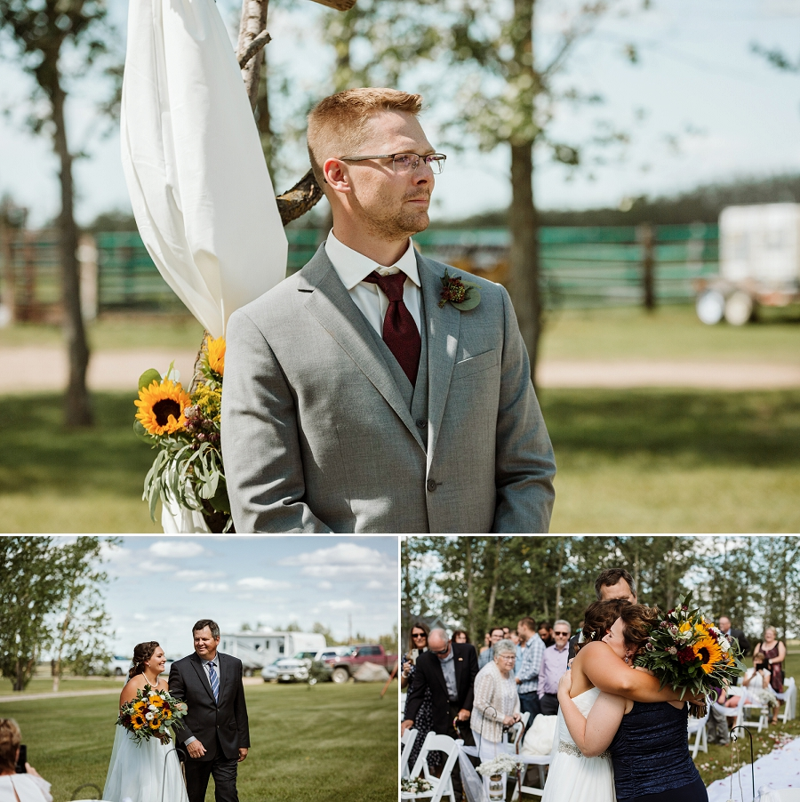 outdoor wedding ceremony in martensville