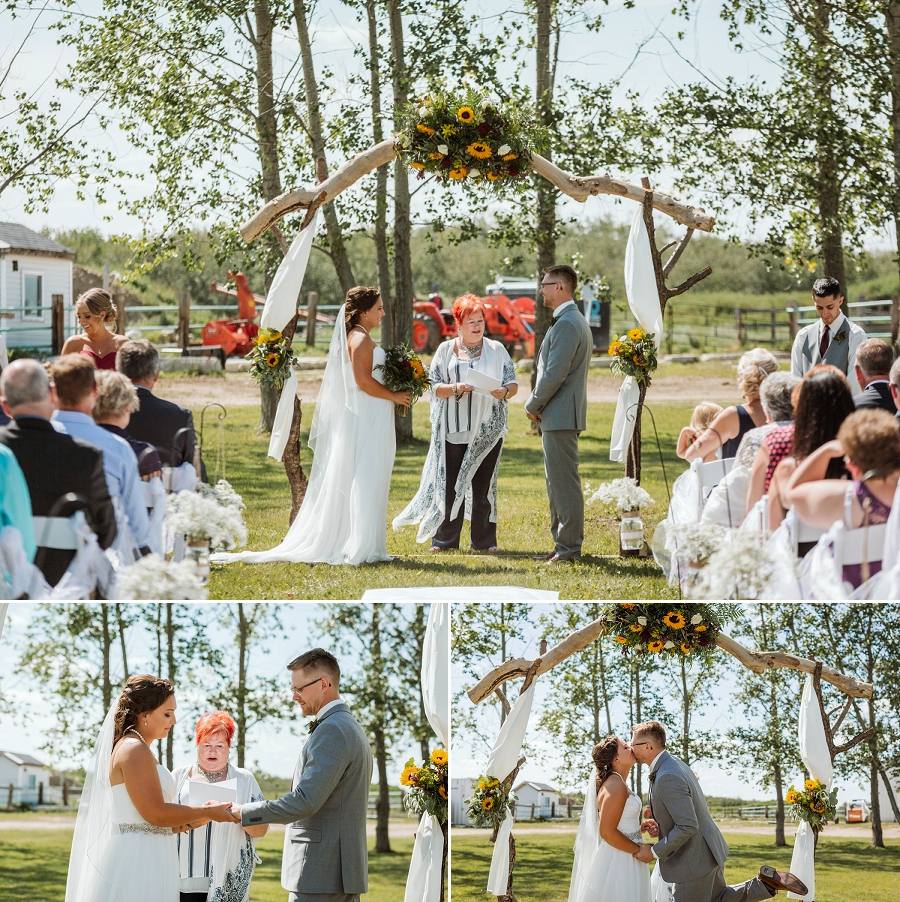 backyard wedding near martensville