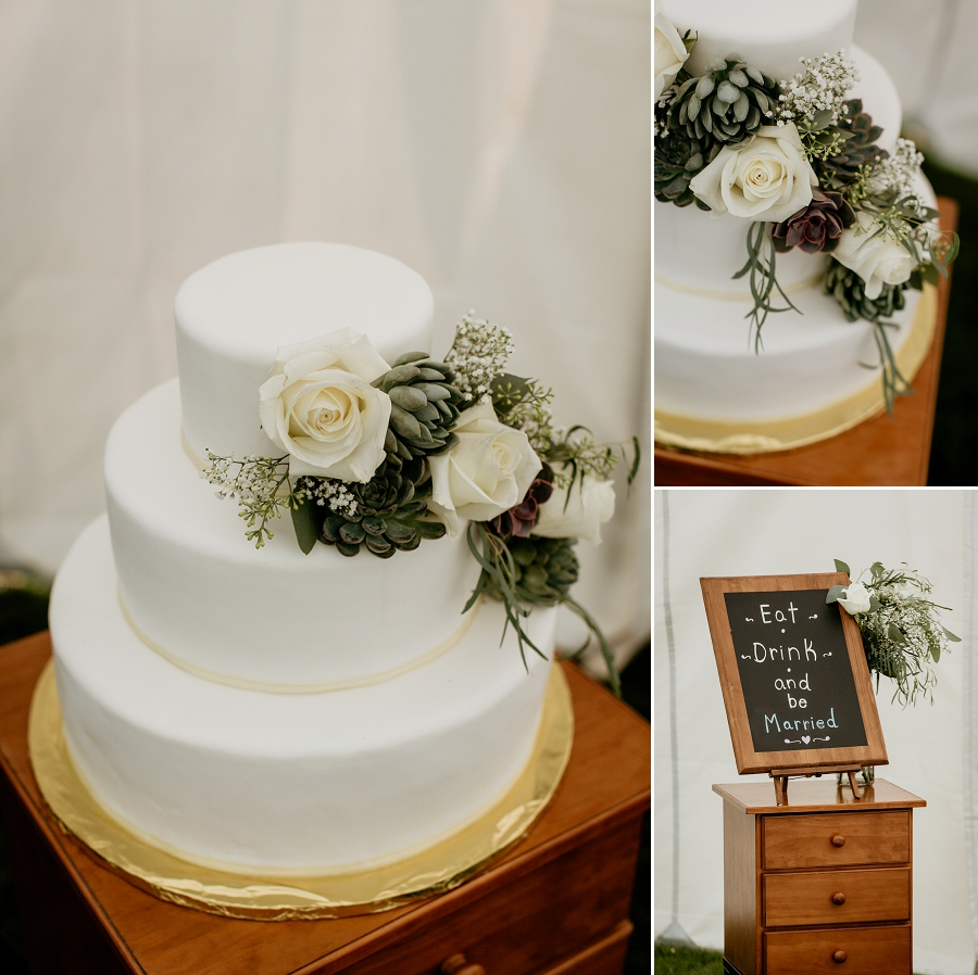wedding cake by picknics catering