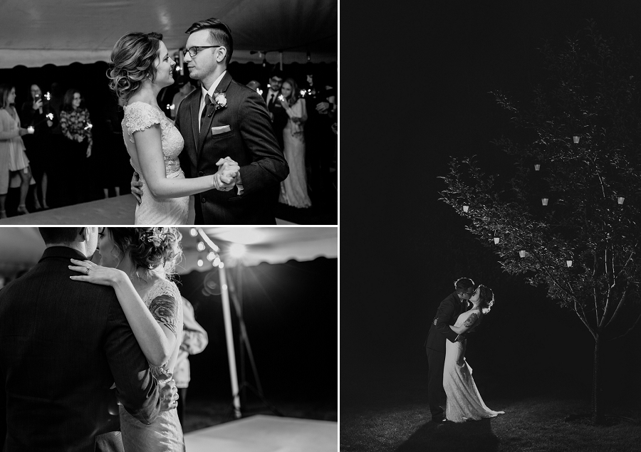 sparkler first dance outdoor wedding