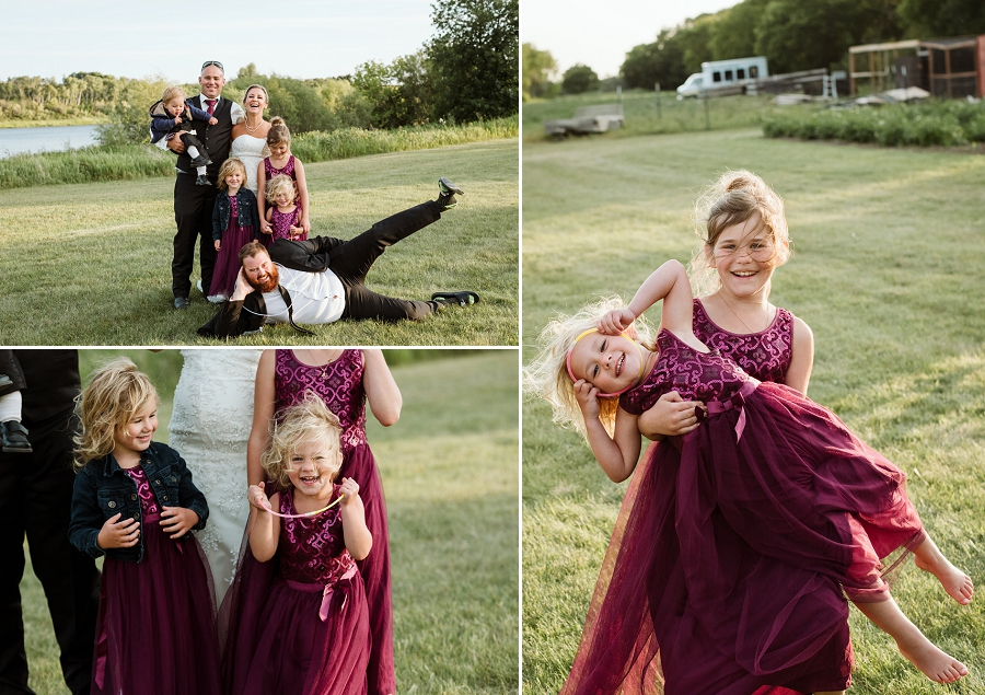 outdoor wedding in hague saskatchewan