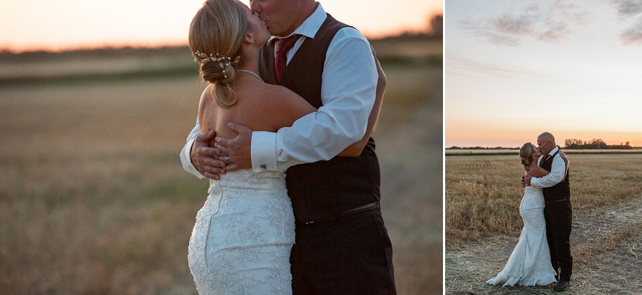 saskatchewan sunset wedding photos