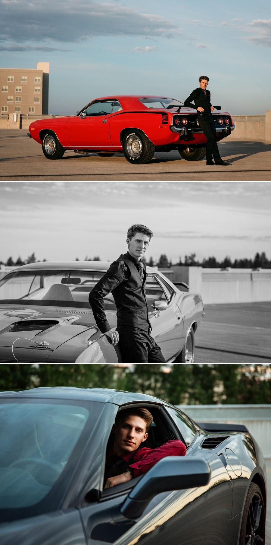 saskatoon graduation photos with classic cars