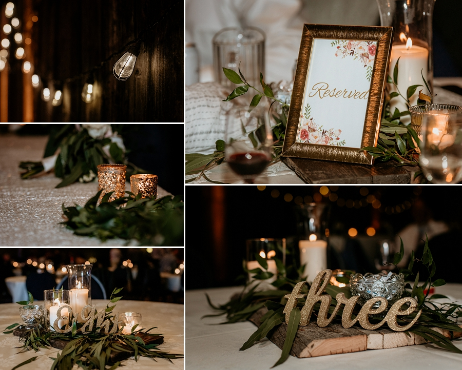wedding decor with greenery